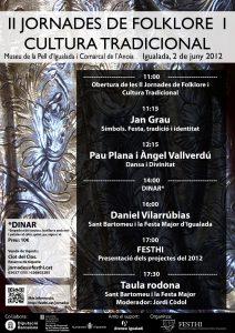 Cartell de les II Jornades de Folklore i Cultura Tradicional